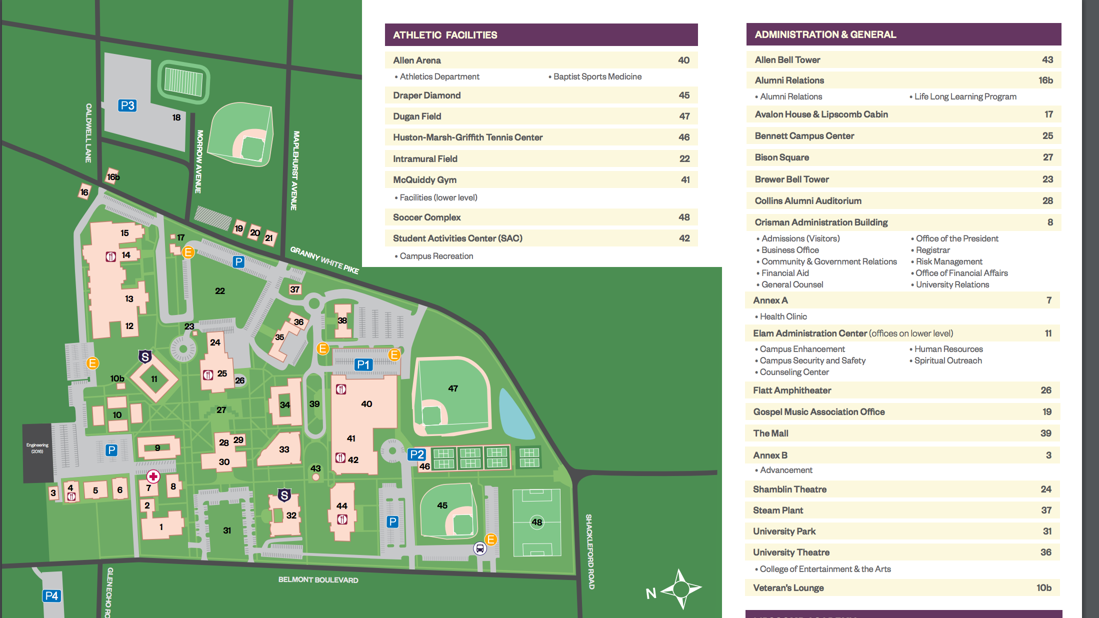 lipscomb university campus map Lipscomb University Map Icon 2019 lipscomb university campus map