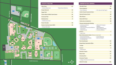 Lipscomb University Map | iCON 2018